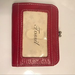 Fossil Red Leather Coin Purse